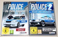 2 PC SPIELE SET - POLICE 1 & 2 - RECHT & ORDNUNG - POLIZEI STRATEGIE SIMULATION