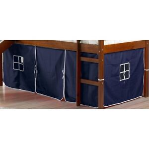 Donco Kids Loft Bed Curtain Kit Turns Twin Bunk Into A