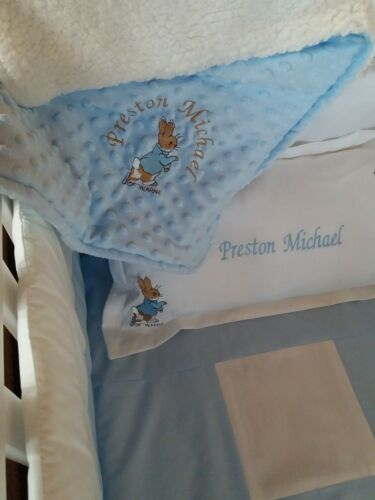 Free p/&p Magnifique Patchwork Peter Rabbit Crib Cot Cotbed Pare-chocs Set