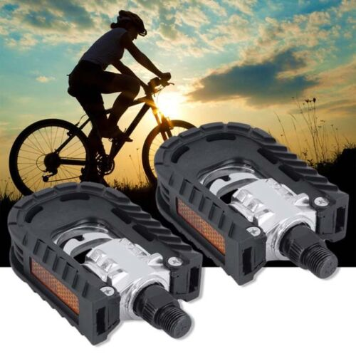 Folding Bicycle Pedals Flat 1 Pair Foldable MTB Road Anti-slip Aluminum Alloy OO
