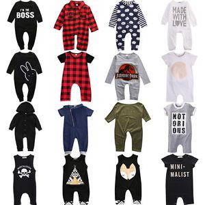 Infant-Newborn-Baby-Boy-Girl-Long-Jumpsuit-Romper-Bodysuit-Cotton-Clothes-Outfit