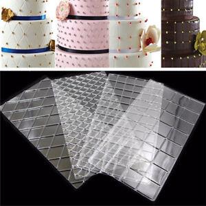 4Pcs-Grid-Pattern-Cake-Border-Mat-Biscuit-Cake-Decorating-Sugarcraft-Paste-Mold