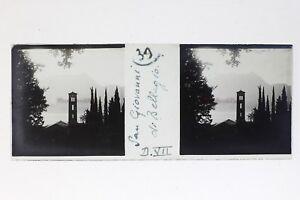 Italia S.Giovanni Bellagio Foto Stereo T2L9n7 Placca Da Lente Vintage