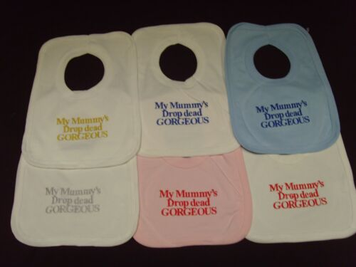Funny Embroidered Personalised Bib Baby Shower Gift Nanny/'s little prince