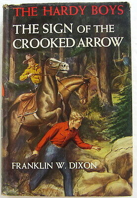Hardy Boys #28 SIGN OF THE CROOKED ARROW Franklin W Dixon Dust Jacket
