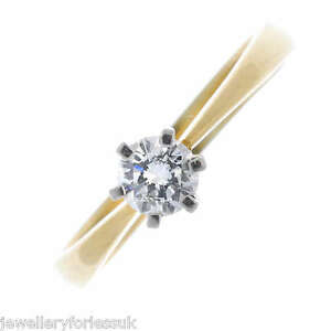 18Carat-Yellow-Gold-Quarter-Carat-Diamond-in-Classic-6-Claw-Ring-0-25cts