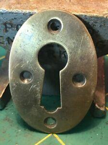 Reclaimed Vintage Brass Bronze Key Hole Escutcheon