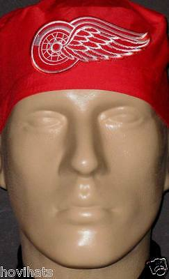 DETROIT RED WINGS LARGE LOGO SCRUB HAT RARE FREE CUSTOM SIZING