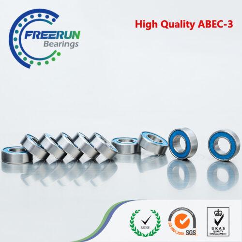 8x16x5mm Ball Bearing 688-2RS Bearing 8x16mm Bearing 10pcs ABEC 3 Blue Rubber