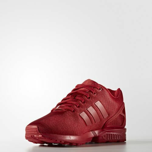 newest f9f19 45c02 ... adidas Originals ZX FLUX Triple RED RED RED Mens Running Shoes Sneakers  S32278 MESH dbc12f ...