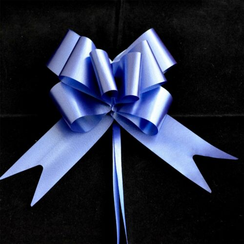 30mm 10 Navy Blue Pull Bows Ribbons Car Wedding Florist Gift Party Decorations