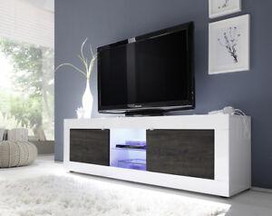 Dettagli su Porta TV moderno Square A31 , mobile per soggiorno design,  scelta fra 5 colori