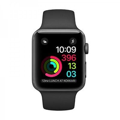 Apple Watch 2 42mm Grey Aluminum Sport Band MP062 Black
