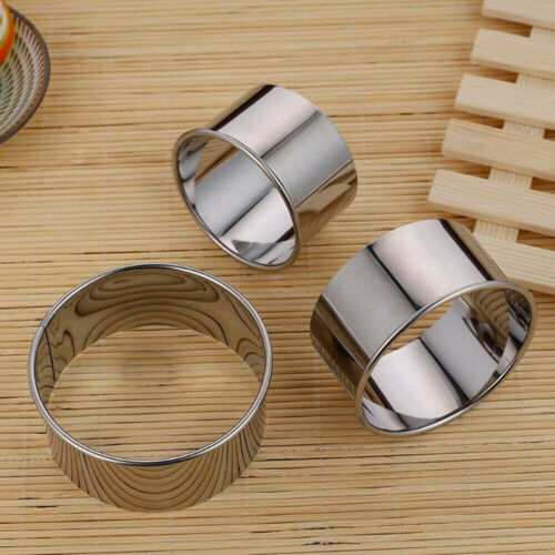 5Pcs Round Circle Stainless Steel Cookie Cutter Biscuit DIY Baking Pastry Mold G