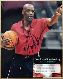 "Coach Larry Drew signed autographed 8x10"" photo - Atlanta Hawks auto"