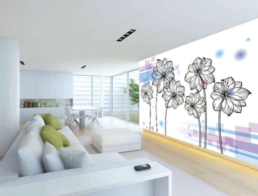 3D Petals Adorn 414 Wallpaper Murals Wall Print Wallpaper Mural AJ WALLPAPER UK
