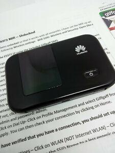 Details about Huawei E5372 4G LTE 3G MiFi Wireless Hotspot Modem Mobile  Broadband - Unlocked