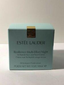 Estee-Lauder-RESILIENCE-Multi-Effect-Night-Tri-Peptide-Face-Neck-Creme-1-oz-NIB