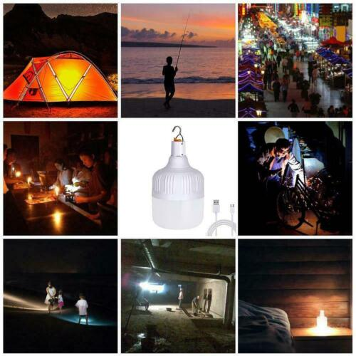 100W LED Camping Light USB Rechargeable Outdoor Hiking Lamp Tent Lant H2R8 60W