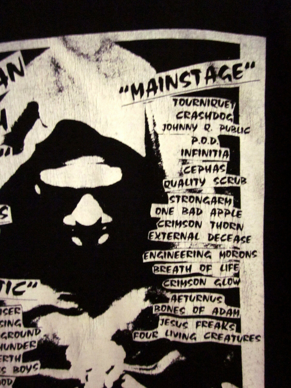 MICHIGAN MOSH shirt tee 1995 T shirt MOSH Christian XXXLTourniquet 3XL Crashdog Strongarm 53dd3d