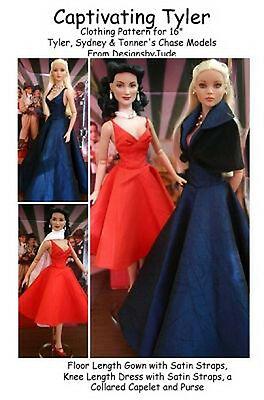 Captivating Dress Doll Clothes SewingPattern for Tyler, Tonner