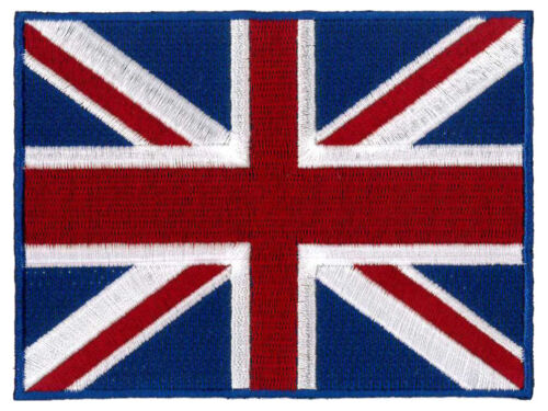 """20cm x 15cm 8/"""" x 6/"""" LARGE Union Jack Embroidered Back Patch"""