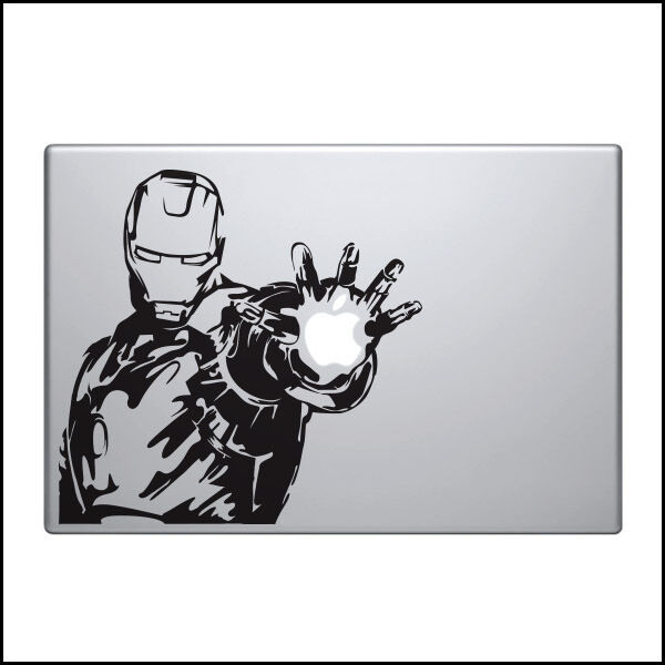 Iron Man Decal for Macbook Pro Sticker Vinyl laptop 2 3 air funny mac 13 15 17