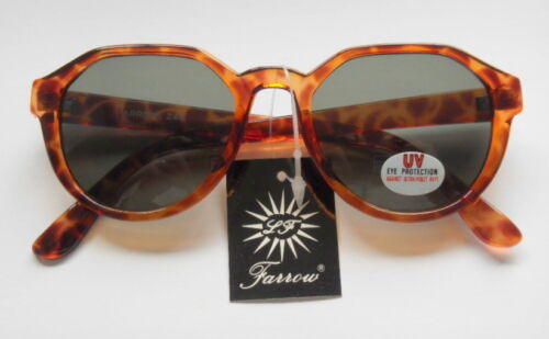 SHELL ROUNDED ORIGINAL LINDA FARROW VINTAGE RETRO SUNGLASSES PRISTINE CONDITION