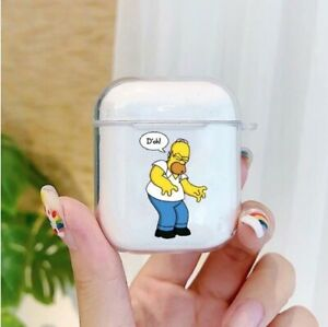 Simpsons Soft Headset Airpods Charge Case Cover For Apple Airpods 1 2 Ebay