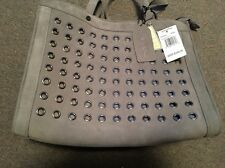 Brand New! EMMA FOX Luna Suede Smoke Gray Leather Tote Handbag EF085M16 $248