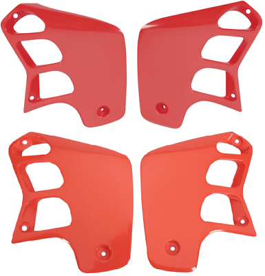 Honda Orange Red Radiator Shrouds CR125 CR250 CR 125 250 1988 89 90 by UFO NEW!