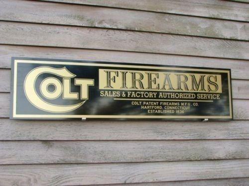 NEW    EARLY DEALER STYLE COLT FIREARMS DEALER EARLY SIGN/AD 1'X46
