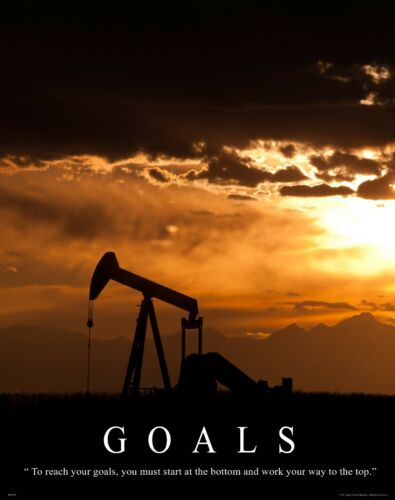 Oil Well Drilling Motivational Poster Art Print Vintage Pump Drill Bit MVP297