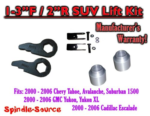 "2/"" Torsion Key Lift Chevy 00-06 Spacer EXT 2000-06 Chevrolet GMC 1500 1-3/"""