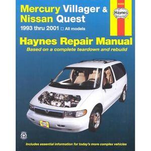 1993 2001 Mercury Villager Nissan Quest Haynes Repair Service Shop Manual448x Ebay