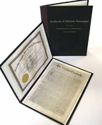 MEDIUM Approx 17 x 12.75 inches DELUXE Archival PORTFOLIO for TIMHU Newspaper