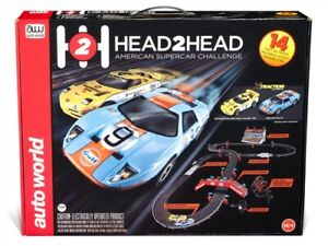 Bright Auto Welt Srs324 4.3m Kopf 2 Kopf Amerikanisch Supercar Challenge Slot Race 1 Ea Evident Effect Elektrisches Spielzeug