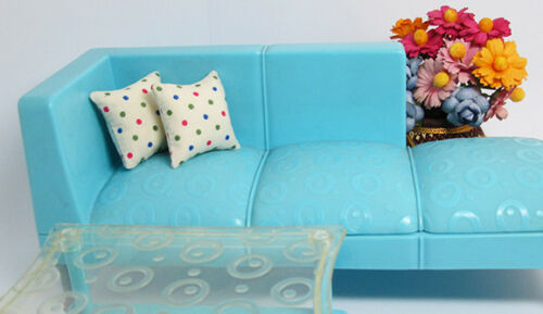 2PCS Dot Polka White Pillow Cushions For Sofa Bed 1//12 Dollhouse Miniature Doll