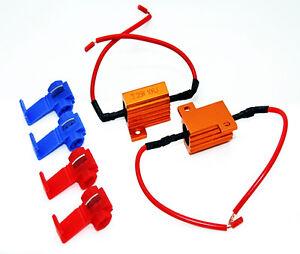 LED-Lastwiderstaende-Widerstaende-Blinker-25W-10-Ohm-Kabel-Widerstand-Relais-Relay