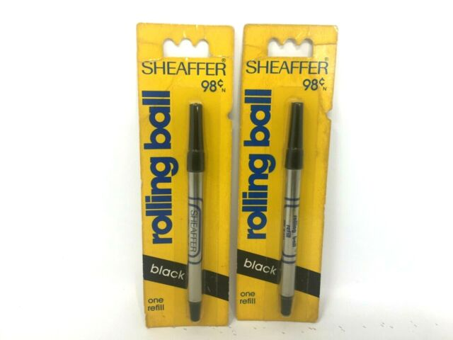 Vintage SHEAFFER  Pen Rolling Ball Refills Black Lot of 2