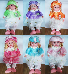 New Large (50cm) Beautiful Dressed Talking Baby Doll Laugh Cry UK