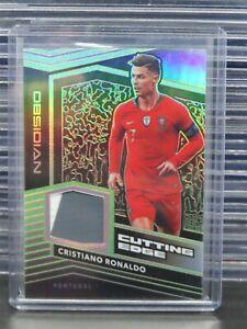 2019-20 Obsidian Cristiano Ronaldo Green Jersey Relic Card #09/25 O52