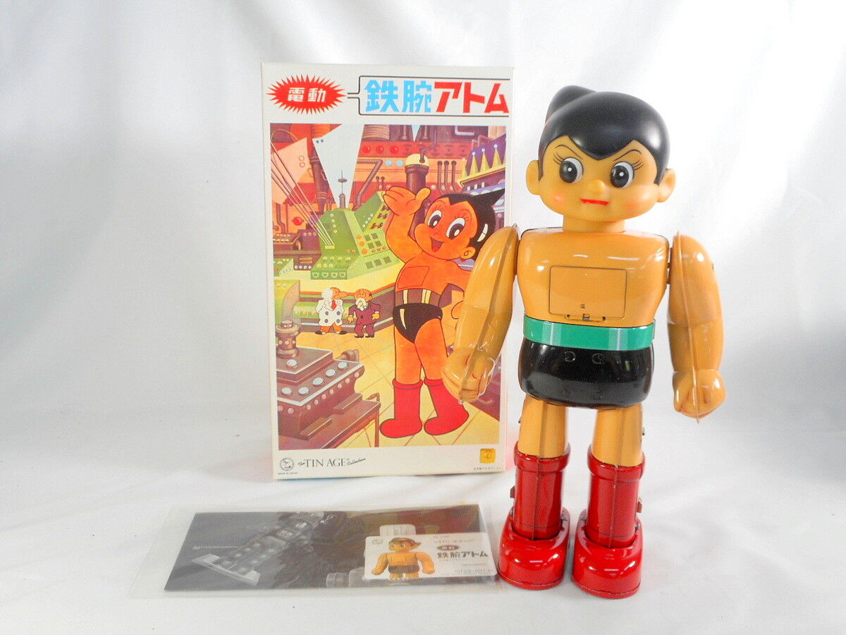 Osaka Estaño Juguete Figura De Astro Boy Eléctrica Vintage Tin Tin edad de Japón F S