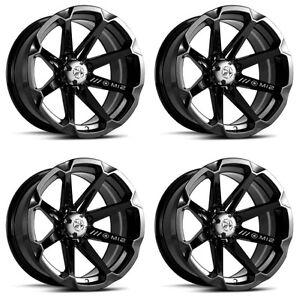 4-ATV-UTV-Wheels-Set-14in-MSA-M12-Diesel-Black-4-110-10mm-IRS