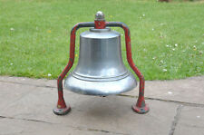 old vintage fire engine bell large chrome plated London fire - FREE DELIVERY