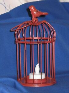 Decorative Bird Cage Led Tealight Candle Holder Made Of Metal