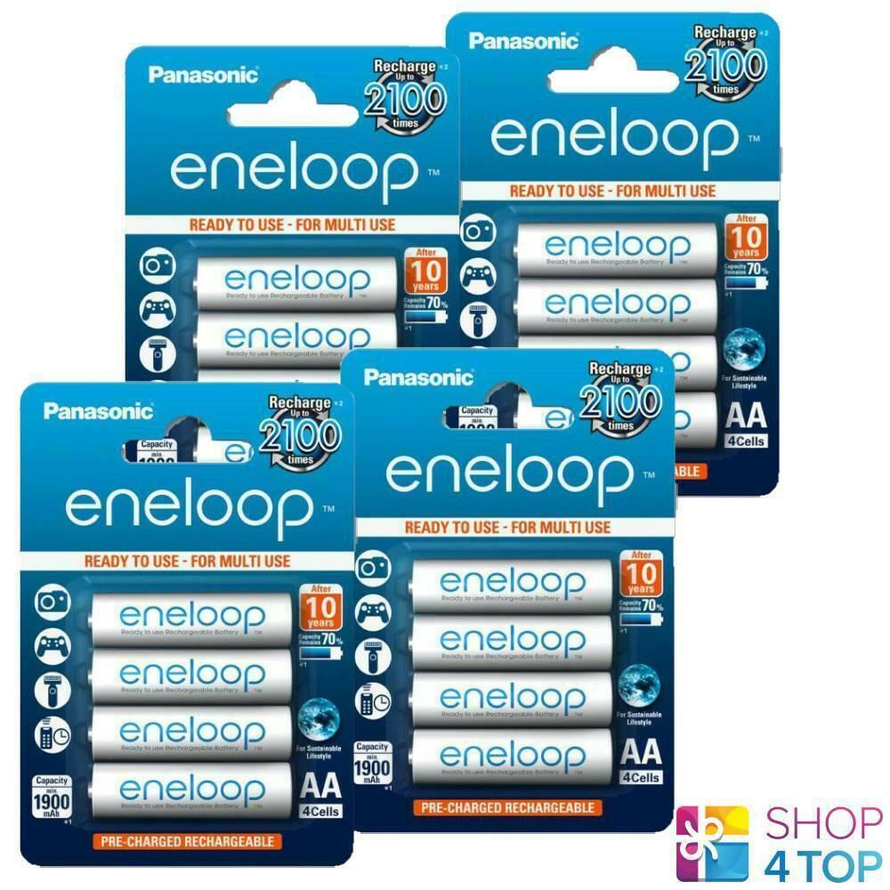 16 panasonic eneloop rechargeable aa hr6 batteries blister lot 1.2v 2000mah new