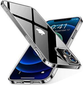 Hülle Für iPhone 11/ 12 Serie Handyhülle Cover Transparent Klar Durchsichtig TPU