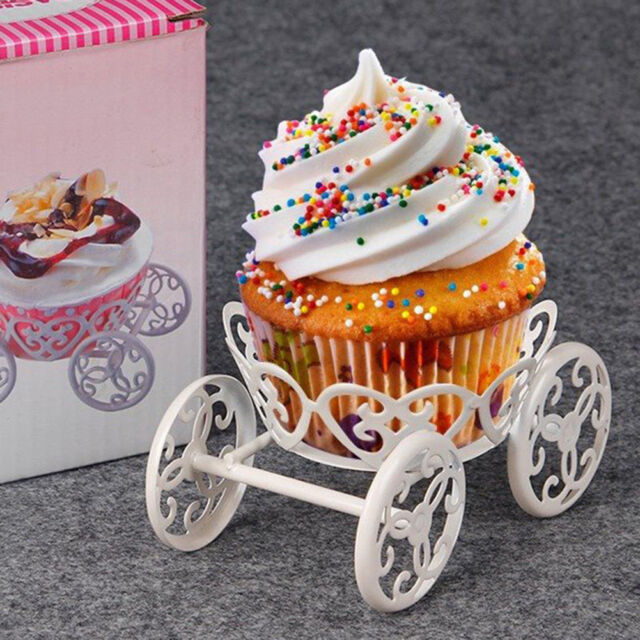 Carriage Frame Metal Cupcake Stand Cakes Dessert Holders Wedding ...