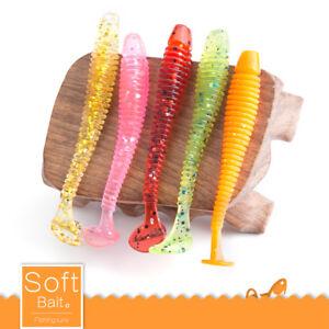 10PCS-Worm-Fishing-Lures-7cm-5cm-Soft-Crank-Baits-Simulation-T-tail-Fish-Tackle